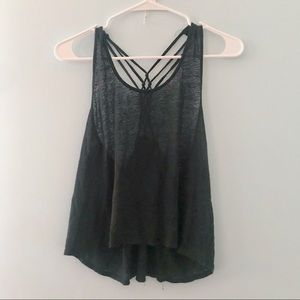 Forever 21 Sheer Black Knit Tank